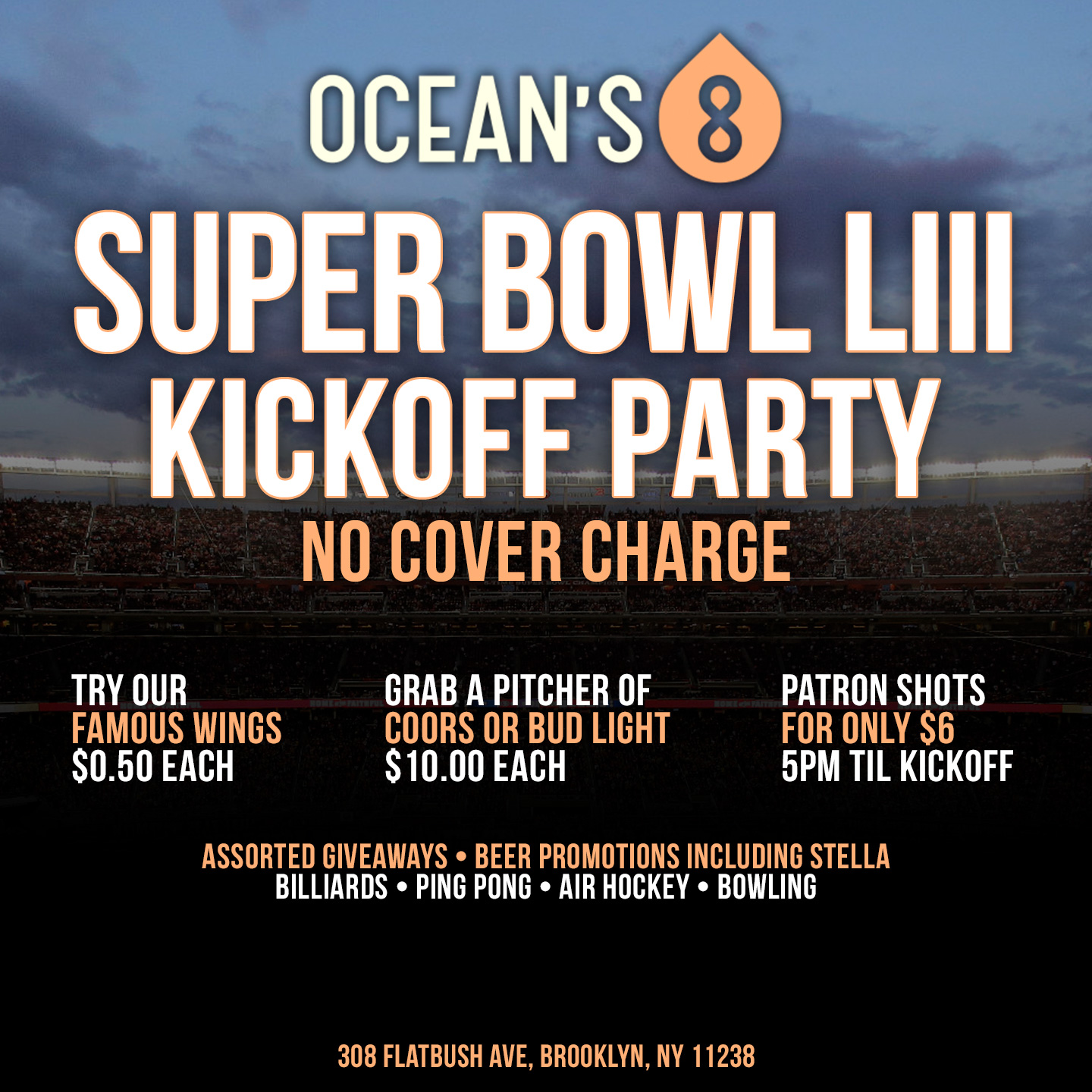 Ocean's 8 Super Bowl LIII Kickoff Party